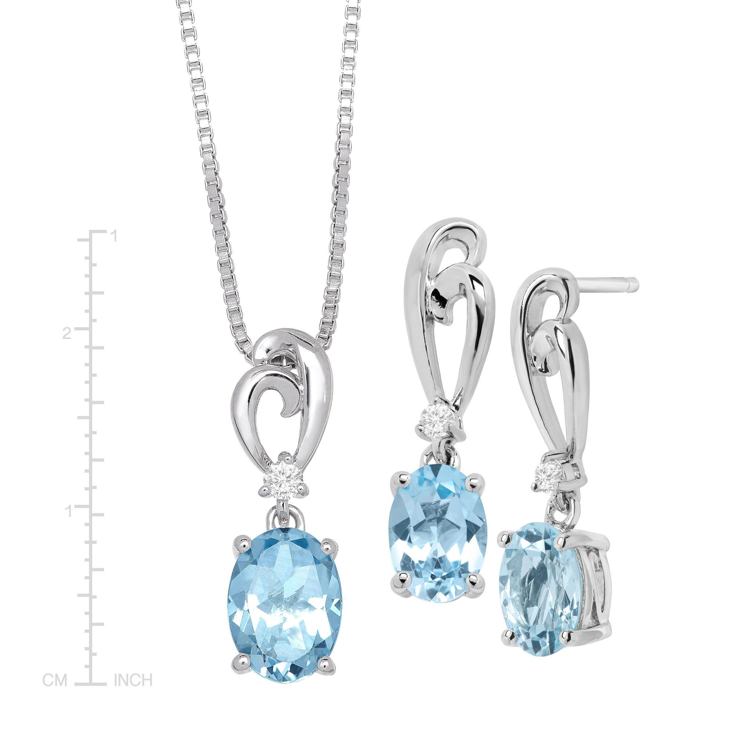 RUDRAFASHION Pear Shape Blue Sapphire /& White CZ Diamond 14k Yellow Gold Plated 925 Sterling Silver Teardrop Jewelry Set Earrings Pendant Necklace