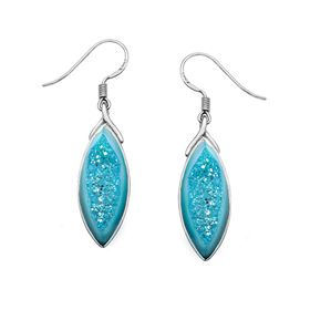 Golden Paraiba Druzy Earrings