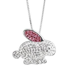 Bunny Rabbit Pendant with Swarovski Crystals