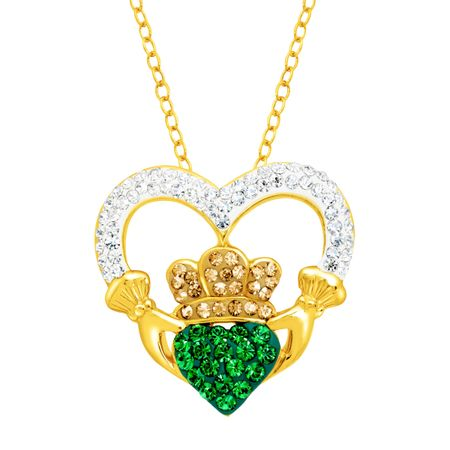 Claddagh Pendant with Swarovski Crystals