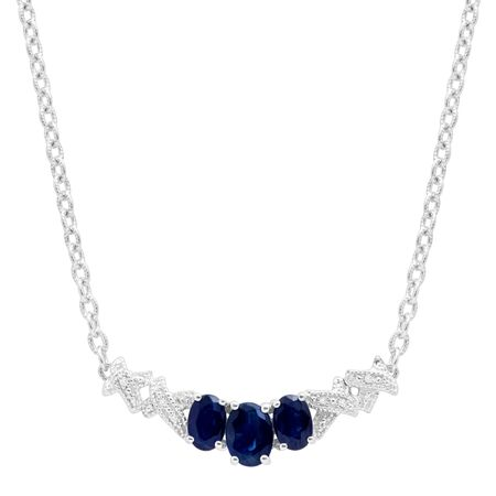 2 1/3 ct Sapphire Garland Necklace with Diamonds