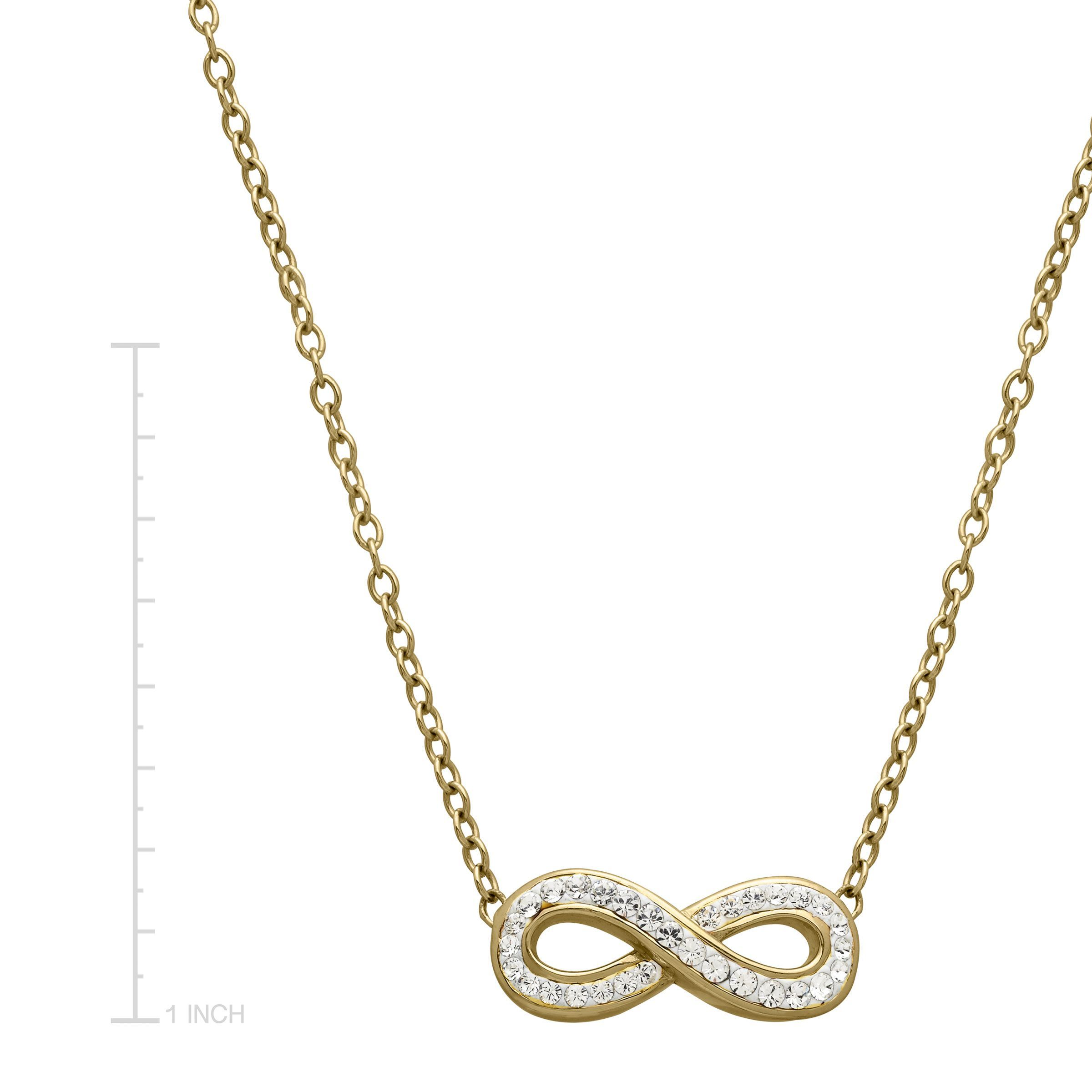 double chain img necklace infinity product gold pendant name with