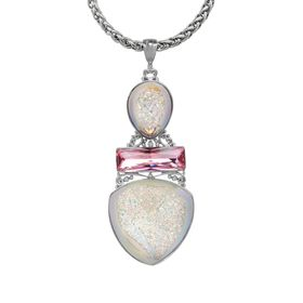 Druzy Quartz Pendant with Swarovski Crystals