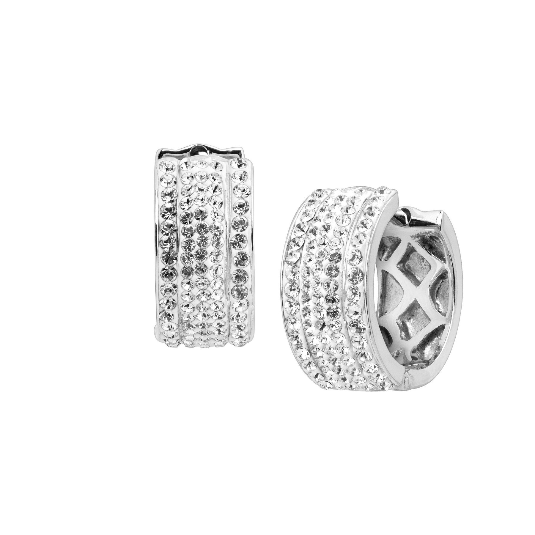Crystaluxe Huggie Hoop Earrings With