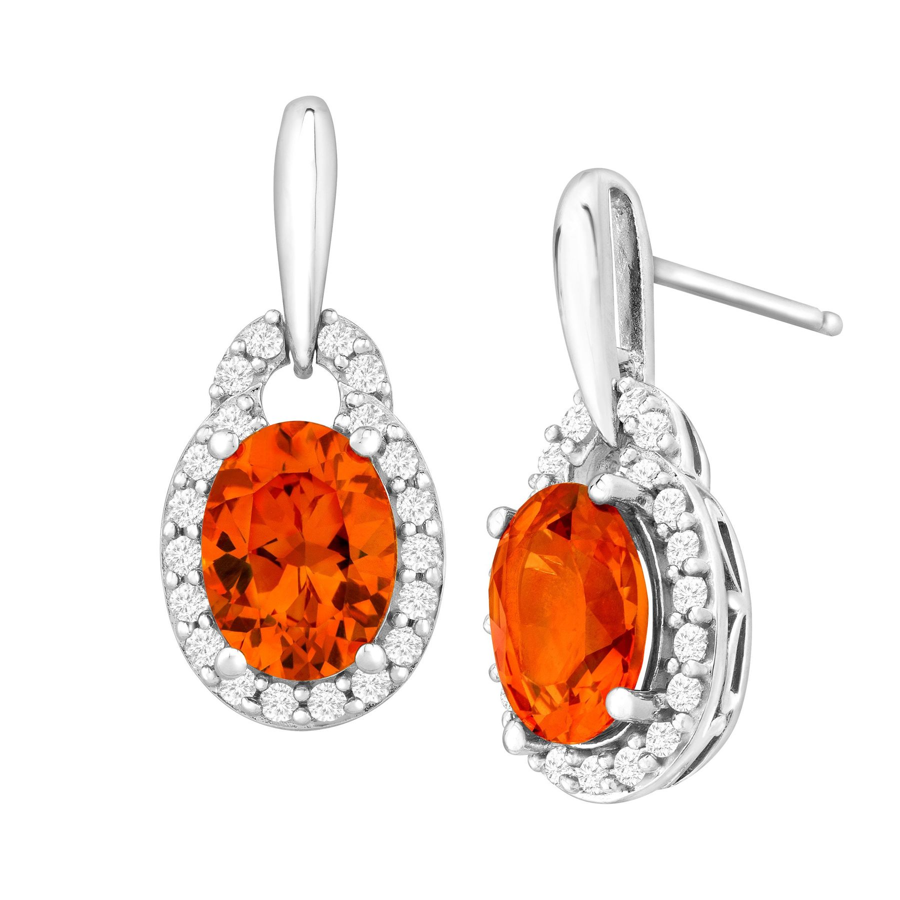 chandelier product diamond earrings earri padparadscha and laura munder store in sapphire