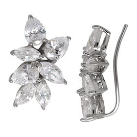 Starburst Ear Crawlers with Swarovski Zirconia
