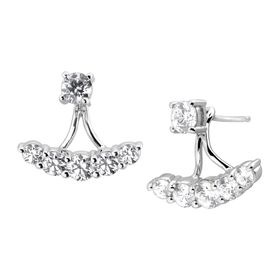 Cubic Zirconia Floater Drop Earrings