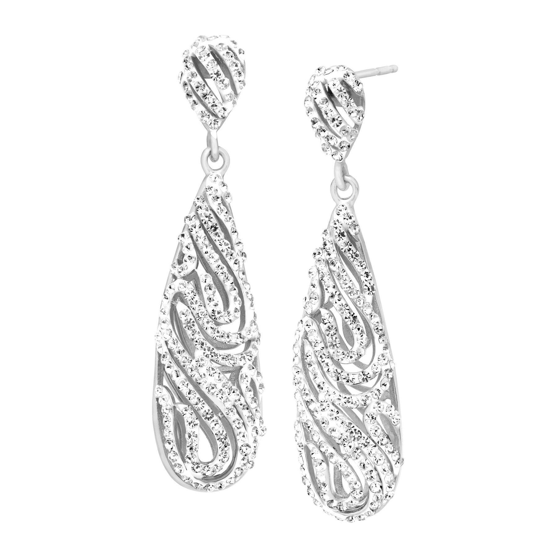 2259ebafa Uhren & Schmuck Crystaluxe Drop Earrings with Swarovski Crystals in  Sterling Silver