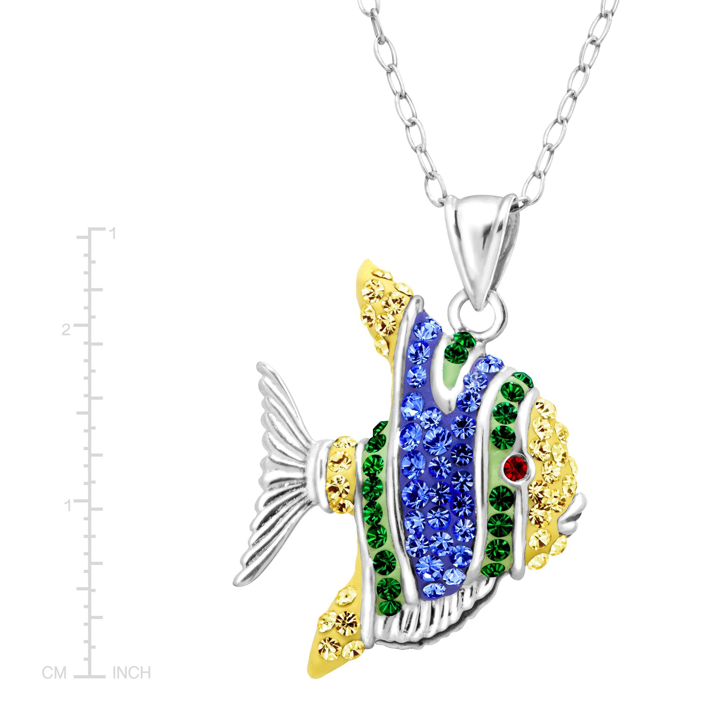 b0e3af7867033 Details about Crystaluxe Tropical Fish Pendant with Swarovski Crystals in  Sterling Silver