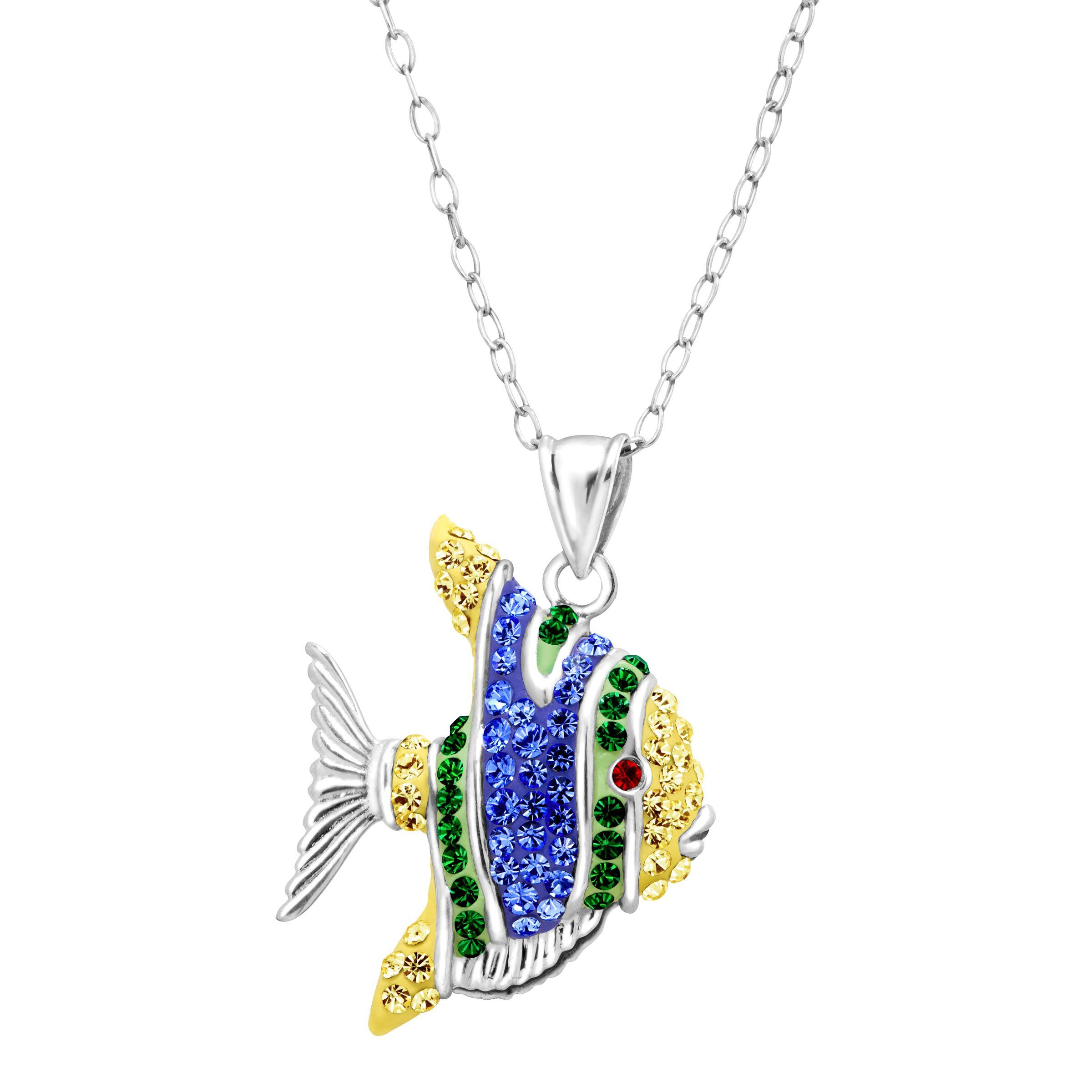 happy pendant necklace chopard jewels a s fish diamond and sapphire hgk by statement