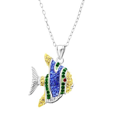 Tropical Fish Pendant with Swarovski Crystals