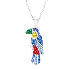 Toucan Pendant with Swarovski Crystals