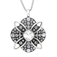 Deals on Crystaluxe Black Resin Pendant w/Swarovski Crystals