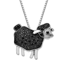1/4 ct Black Diamond Sheep Pendant