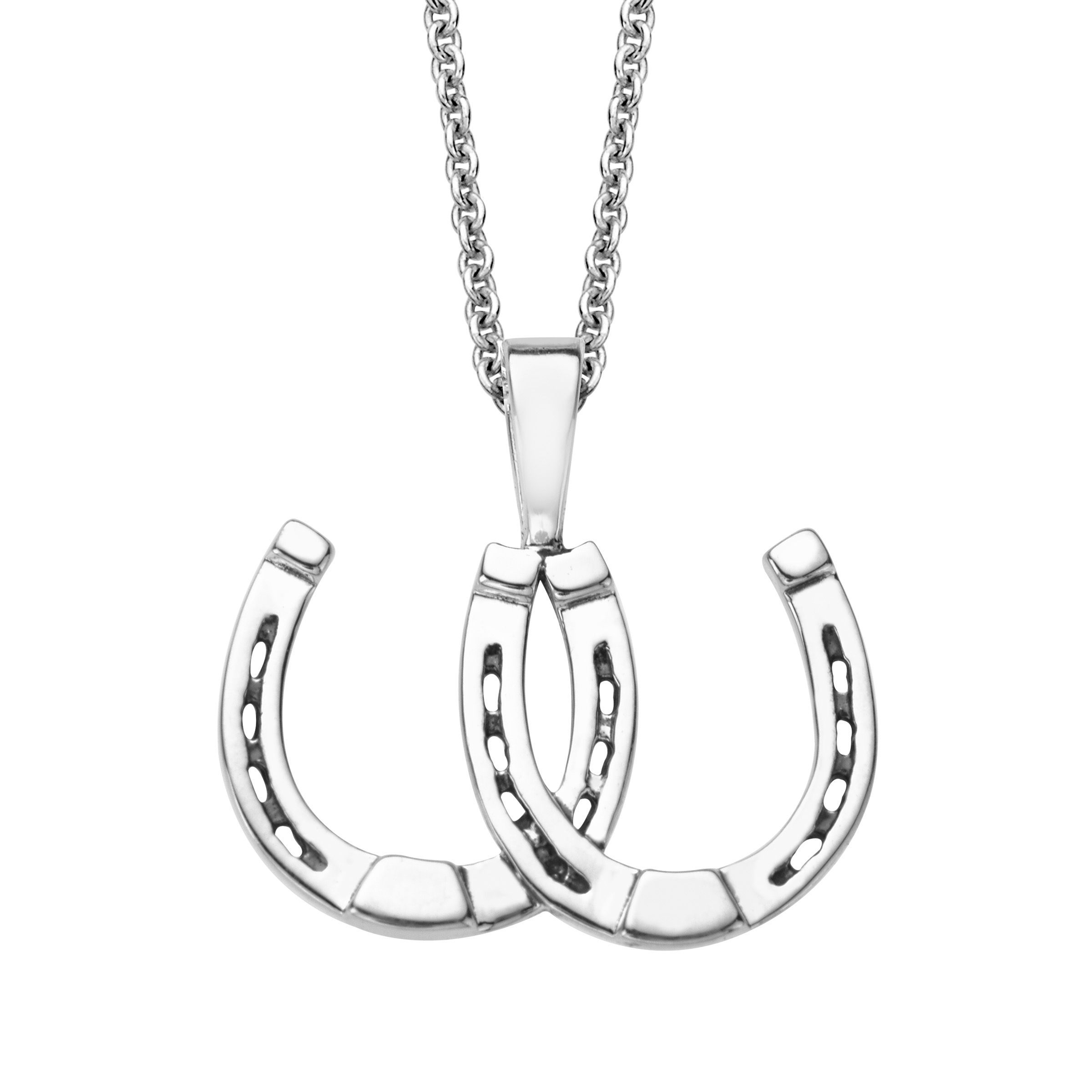 gioielli rose ubaldi gold pendant diamonds horseshoe product