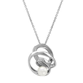 8-8.5 mm White Pearl Ribbon Pendant