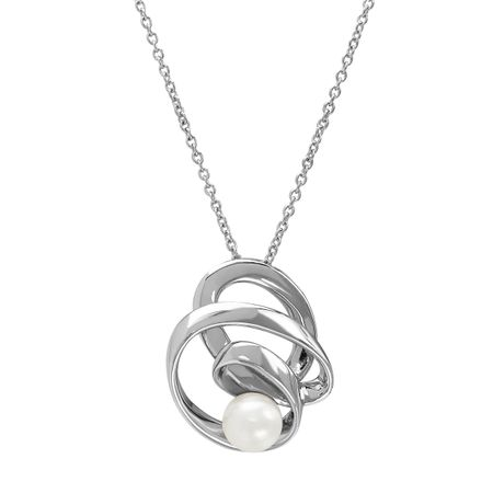 8-8.5 mm Pearl Ribbon Pendant