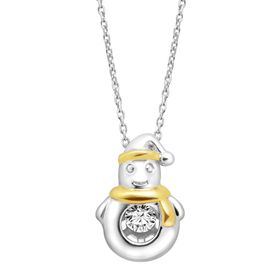 Penguin Floater Pendant with Swarovski Zirconia