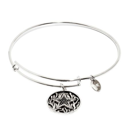 Starfish Expandable Bangle Bracelet, Silver