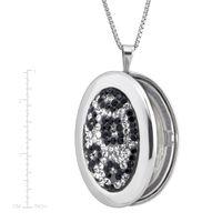 Deals on Crystaluxe Leopard Print Locket Pendant w/Swarovski Crystals