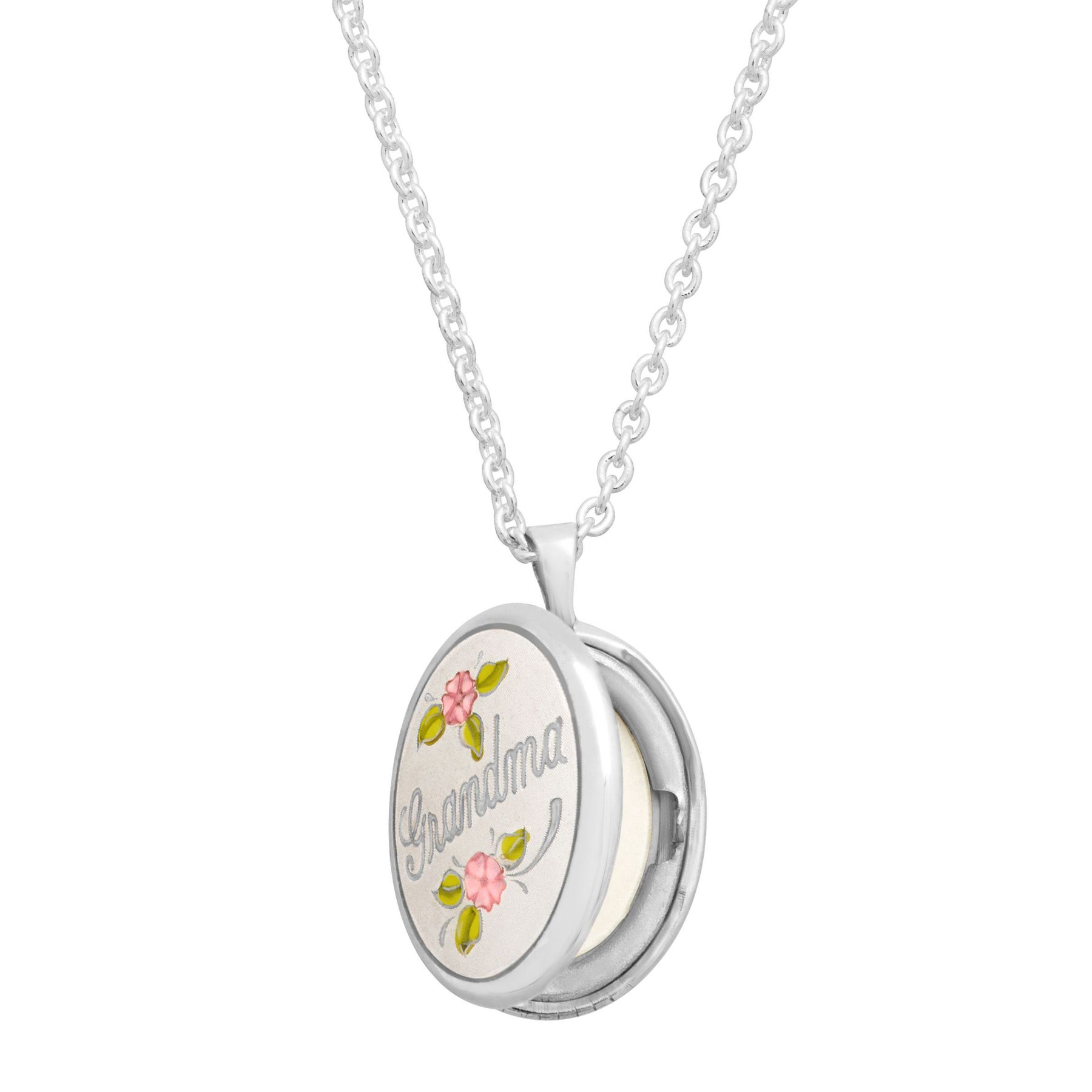 mimi nana necklace silver snowflake grandmother lockets grandma charm product sterling img