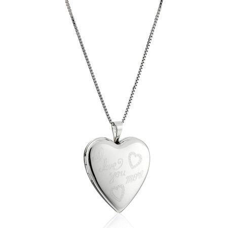 'I Love You More' Heart Locket
