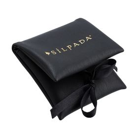 Black Foldover Jewelry Pouch
