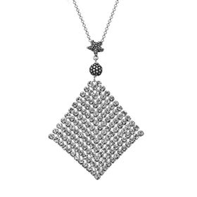 Mesh Pendant with Swarovski Crystals