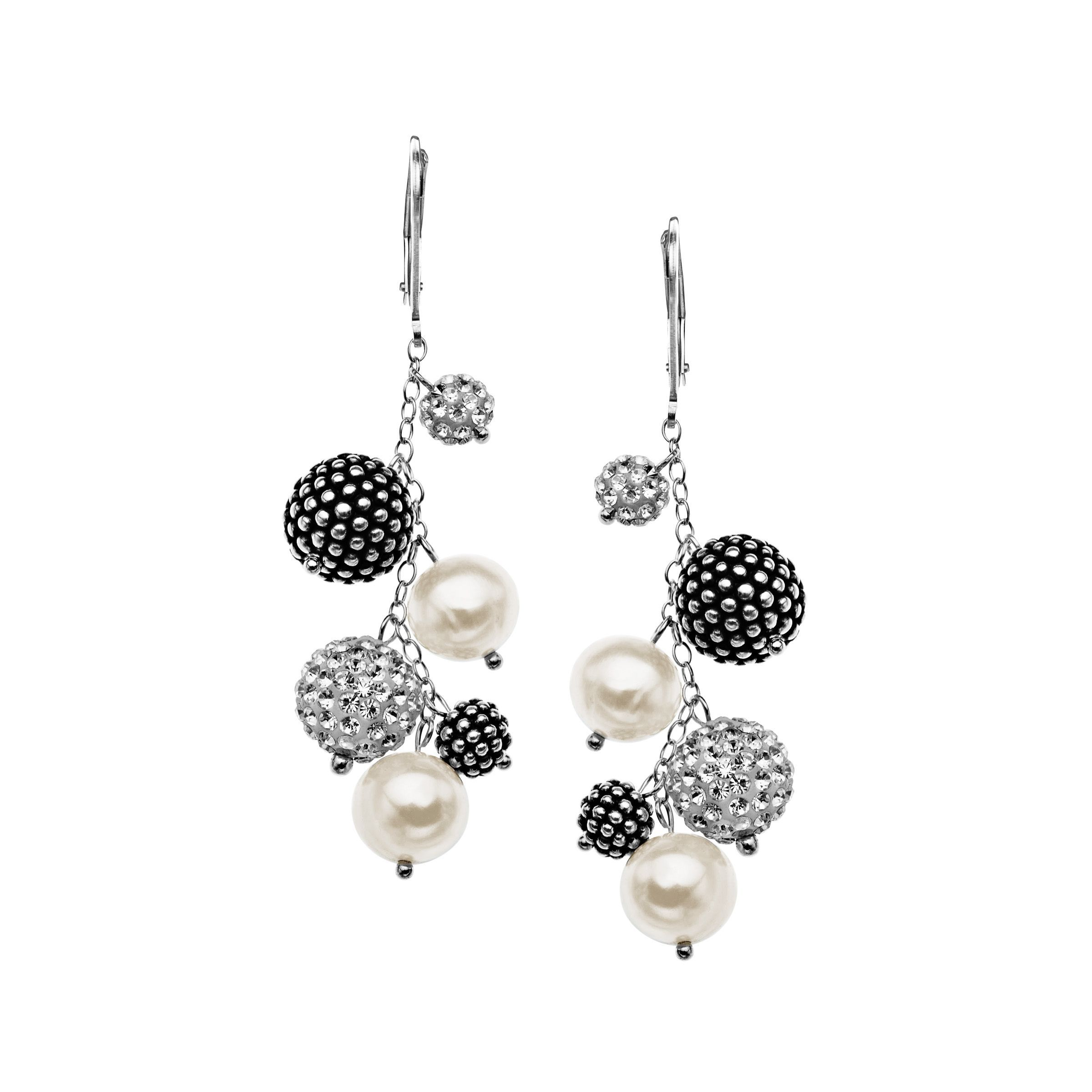 by moda pearls crystal large and fallon pearl earrings close loading metallic rhodium swarovski plated