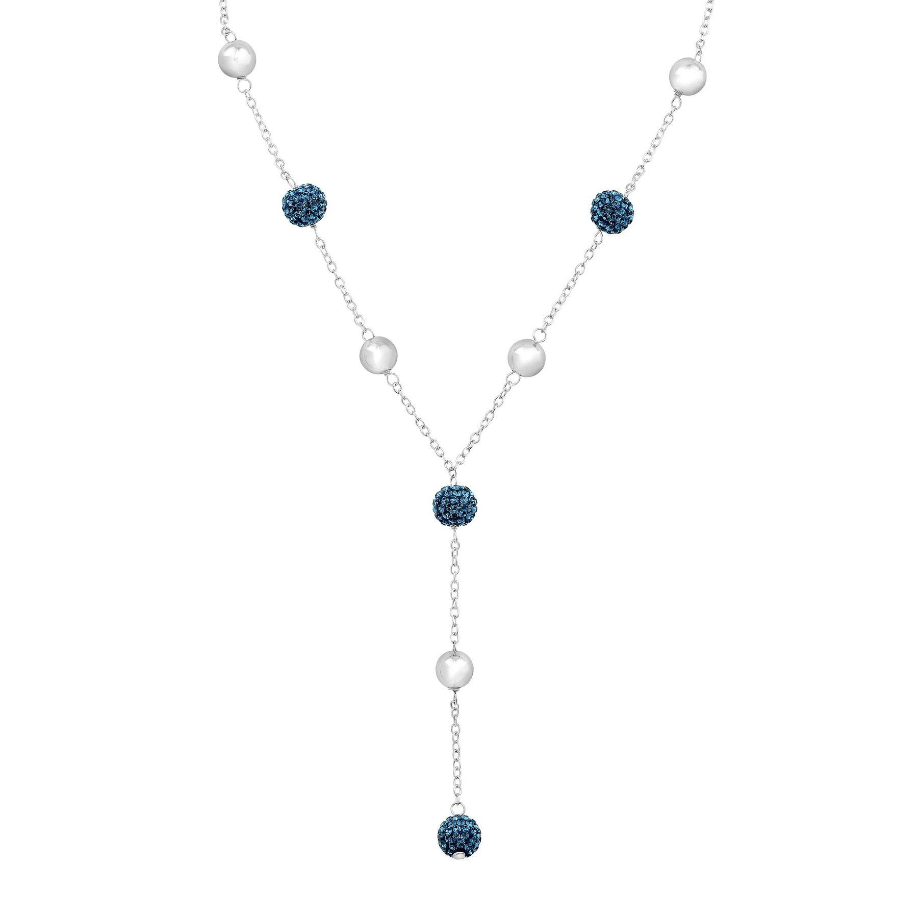 Crystaluxe Lariat Necklace with Montana Blue Swarovski Crystals in ... 02de953420