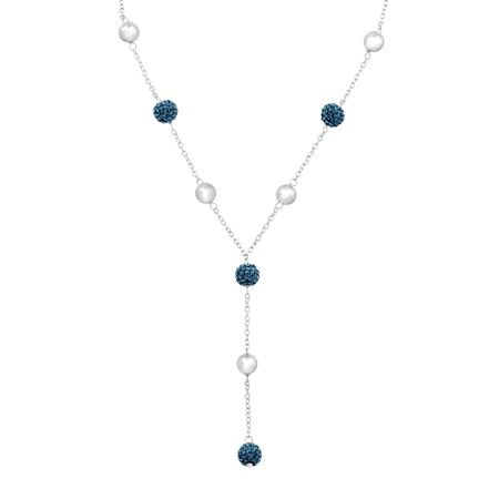 Lariat Necklace with Swarovski Crystals