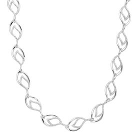 Marquise Link Necklace with Diamonds
