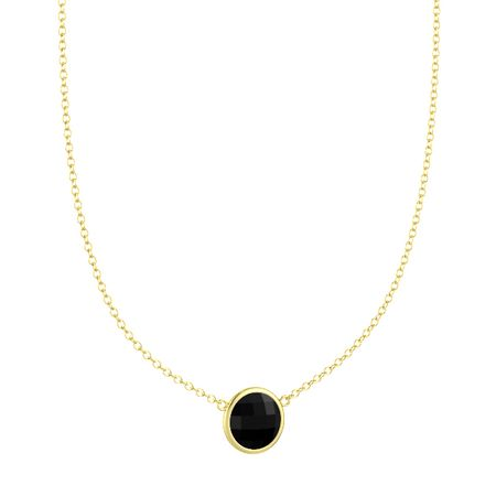 Bold Round Necklace (10mm gem)