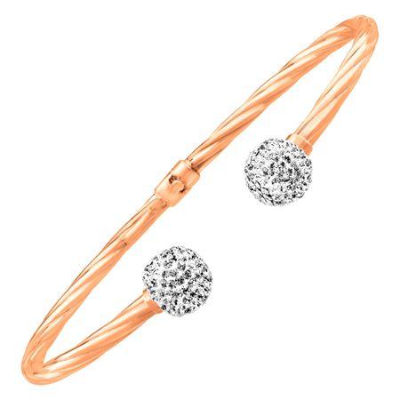 Cuff Bracelet With Swarovski Crystals