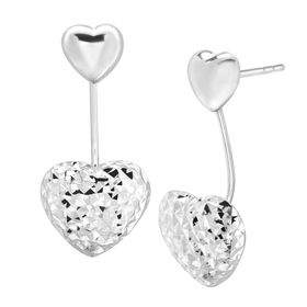 Convertible Floater Heart Earrings