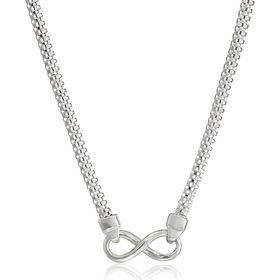 Infinity Popcorn Chain Necklace