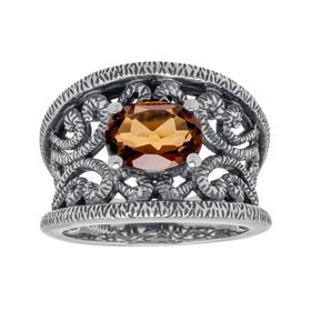 1 5/8 ct Cognac Quartz Ring