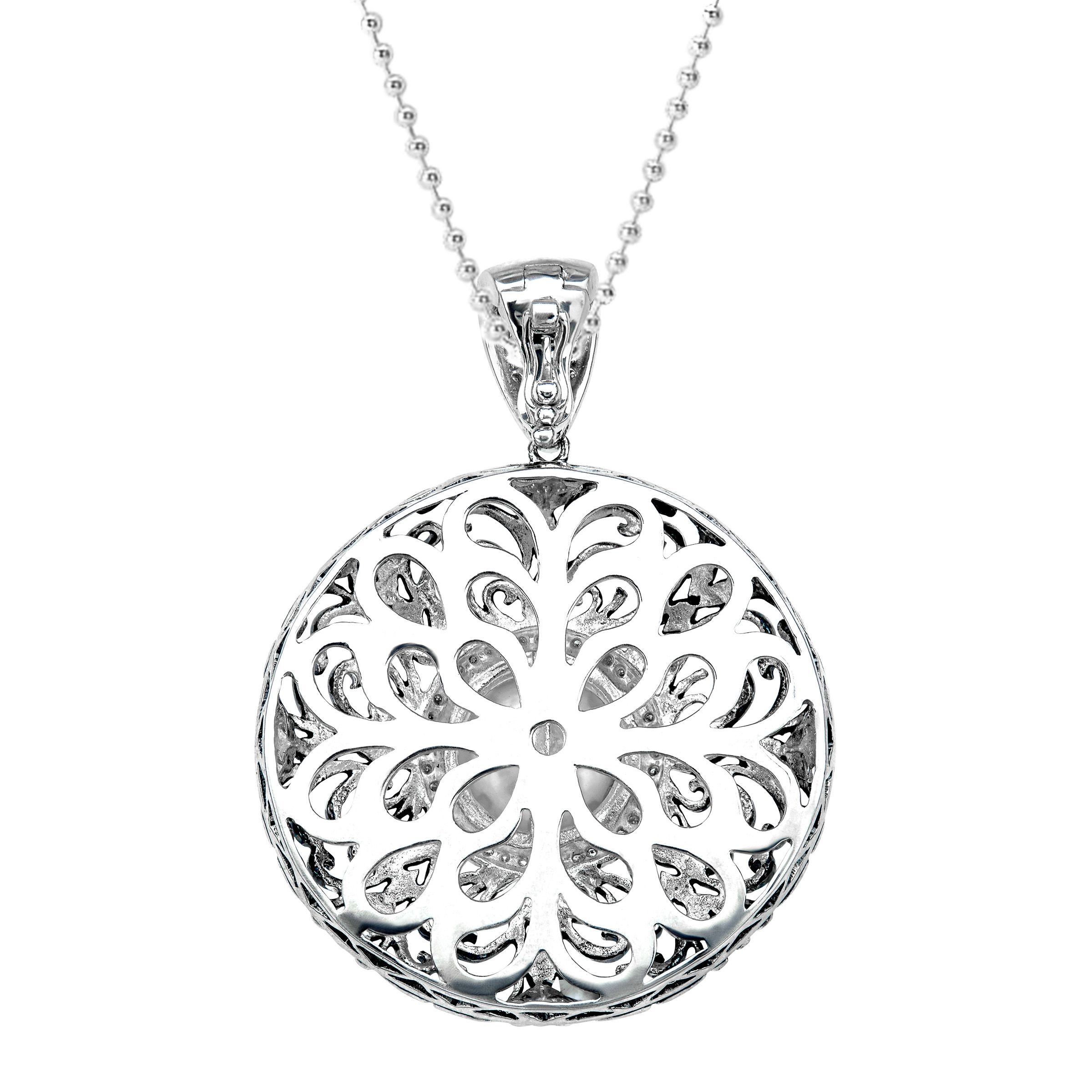 gold in tw diamond pendant white medallion
