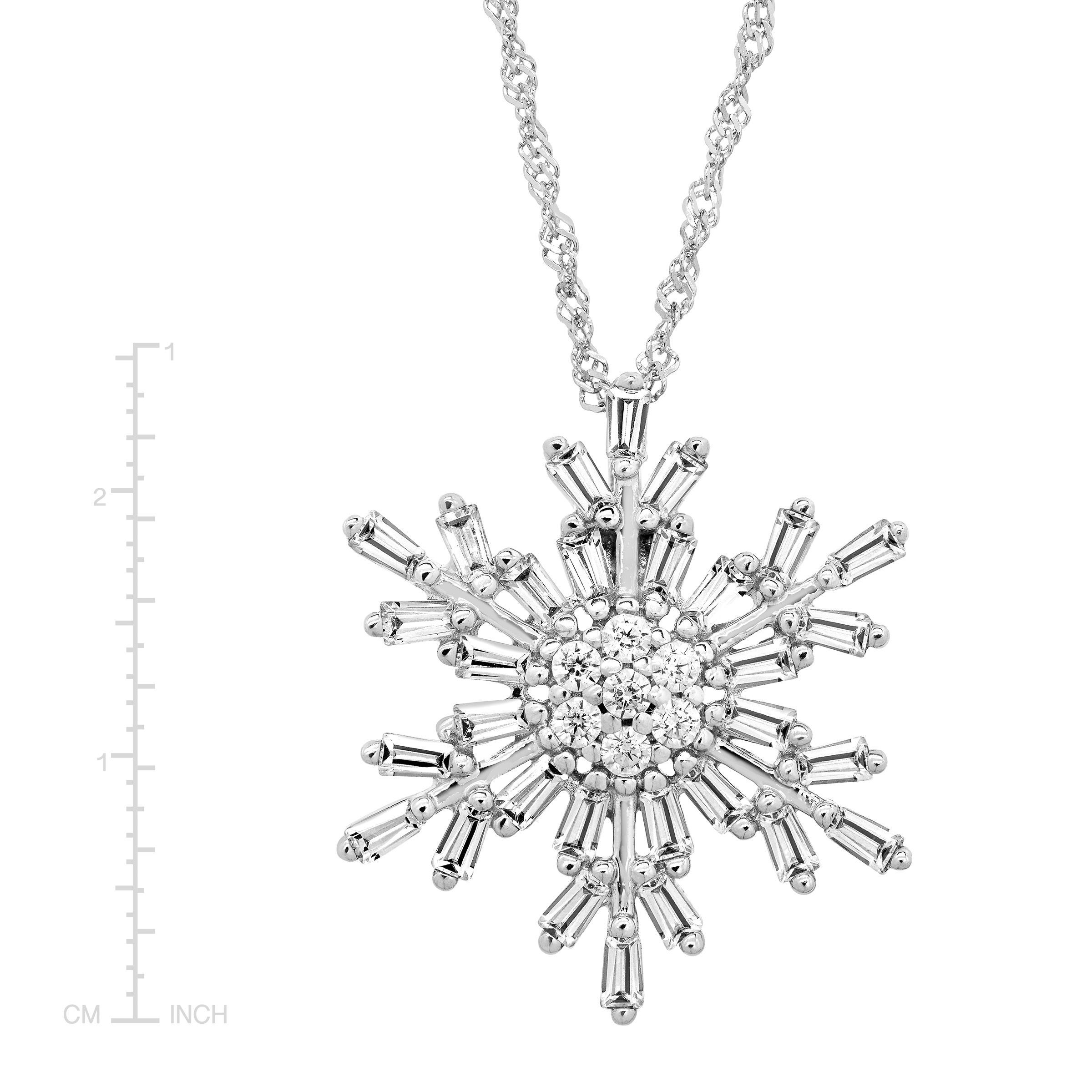 image white set gold snowflake and pendants necklaces an diamond pendant