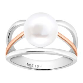 Pearl Triple-Band Two-Tone Ring