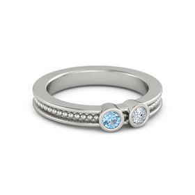 Mother's Gift Ring With Two Gems