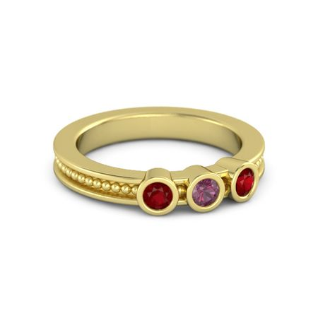 Mothers Gift Ring With Three Gems