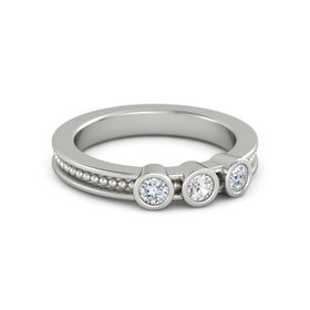 Mother's Gift Ring With Three Gems