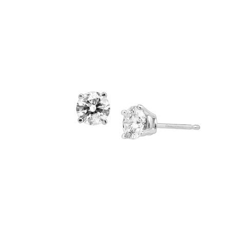 38dd25fbf0e9f 1 ct Diamond Stud Earrings in 14K White Gold
