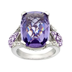 Ring with Purple Swarovski Crystal