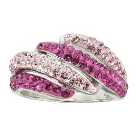 Ring with Pink Swarovski Crystal