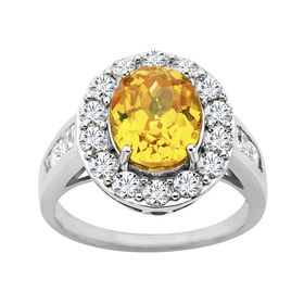 Ring with Yellow Swarovski