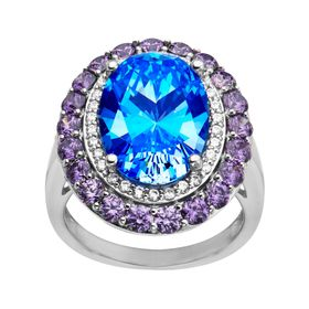 Ring with Swarovski Cubic Zirconia