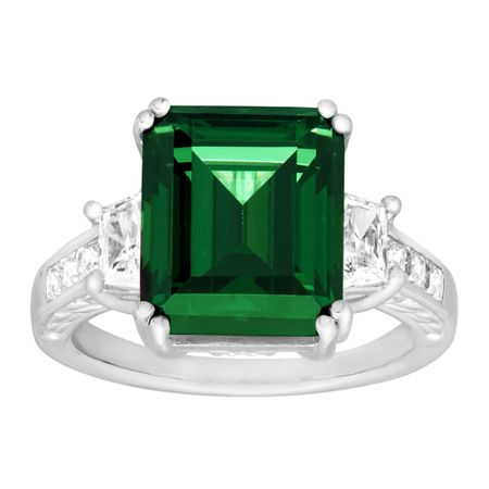 Ring with Green Swarovski Zirconia