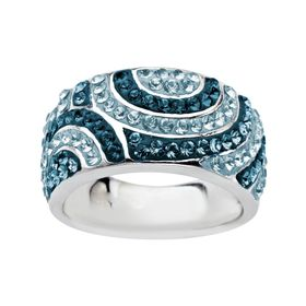 Swirl Ring with Swarovski Crystals
